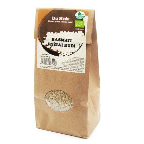 Ekologiški rudieji Basmati ryžiai DU MEDU, 500g