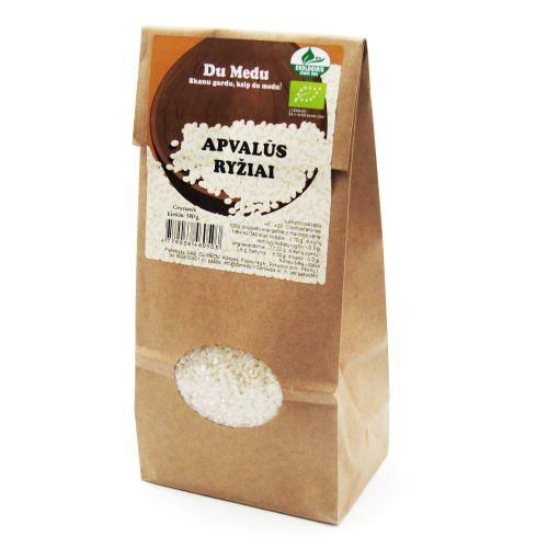 Ekologiški baltieji apvalūs ryžiai DU MEDU,  800g