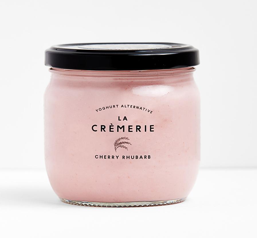 Vyšnių ir rabarbarų skonio ryžių jogurtas LA CREMERIE, 370g