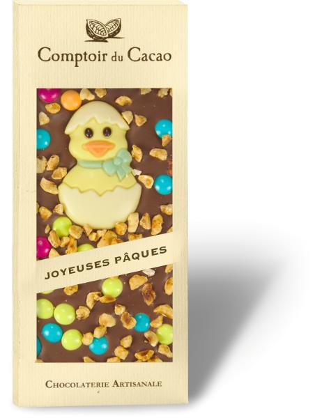 Pieninis šokoladas COMPTOIR du CACAO, su velykine dekoracija, 90 g