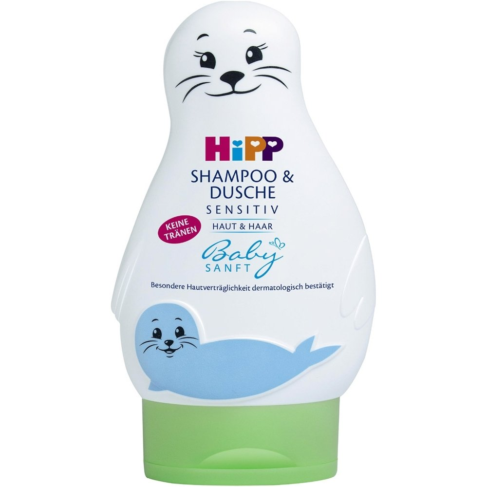 Vaikiškas šampūnas ir kūno prausiklis HIPP Bbaby Sanft, 200 ml
