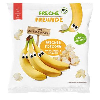 Ekologiški kukurūzų ir ryžių spragėsiai su bananais vaikams FRECHE FREUNDE, 20 g
