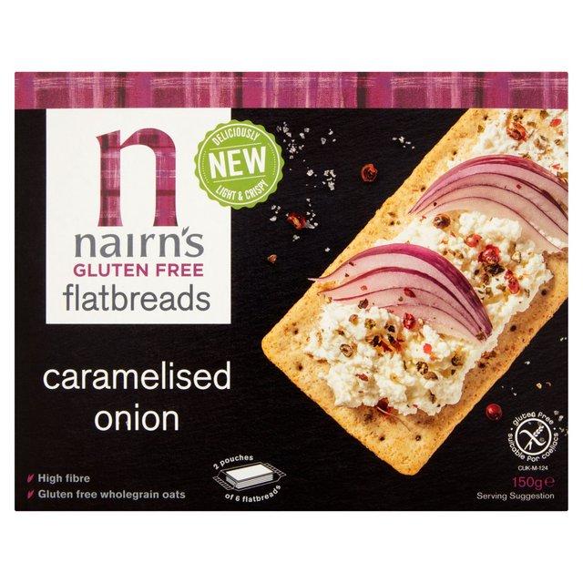 Avižinės duonelės NAIRN'S, karamelizuotų svogūnų skonio be gliuteno 150g