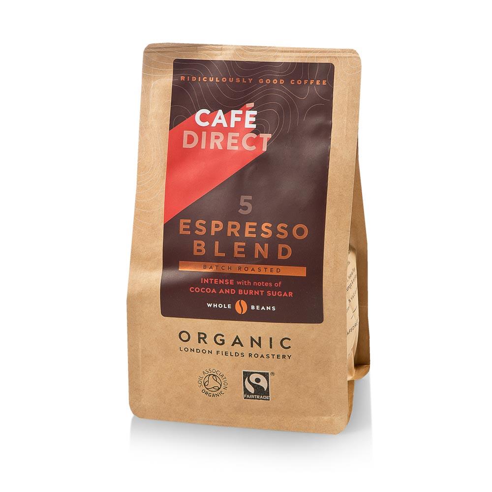 Ekologiškos kavos pupelės CAFE DIRECT Espresso Blend 227g