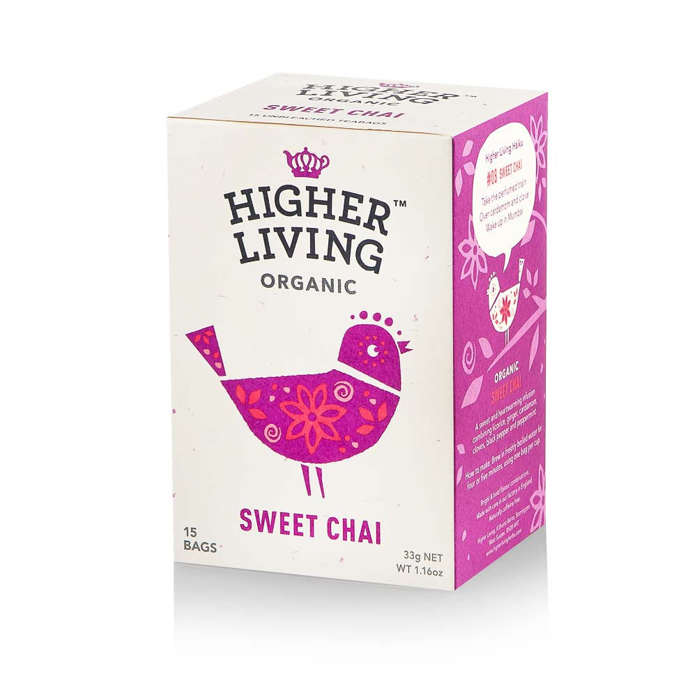 Ekologiška arbata HIGHER LIVING SWEET CHAI 33g
