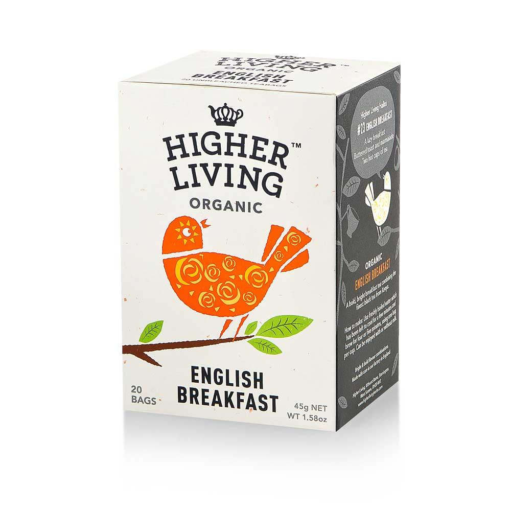 Ekologiška arbata HIGHER LIVING ENGLISH BREAKFAST 45g