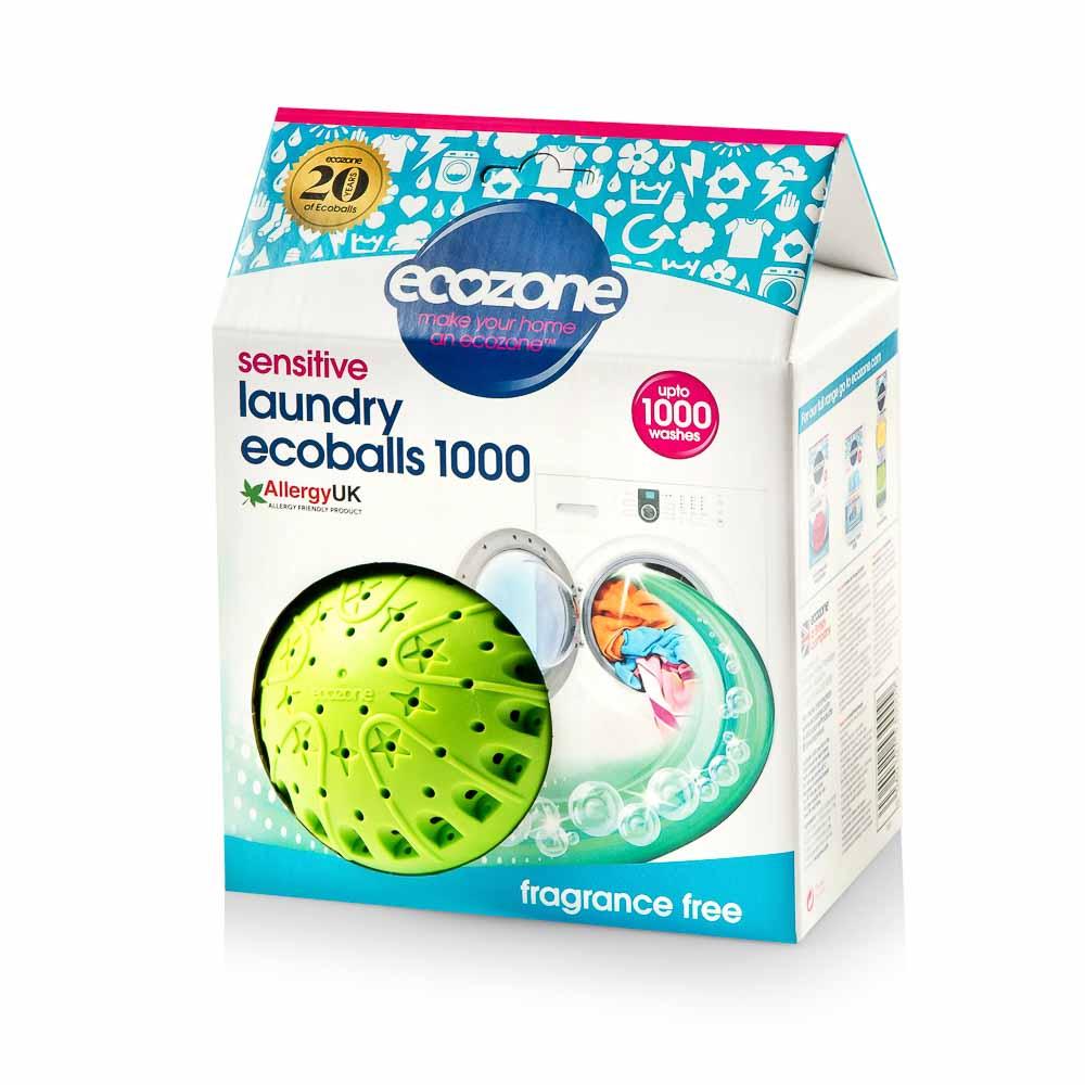 Skalbimo rutuliai ECOZONE Ecoballs Sensitive, 1000 skalbimų, 1vnt.