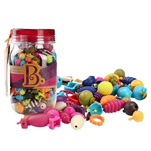 275 skirtingų detalių rinkinys papuošalų gamybai B-TOYS Beauty Pops 4-10 m. vaikams (BX1232Z)