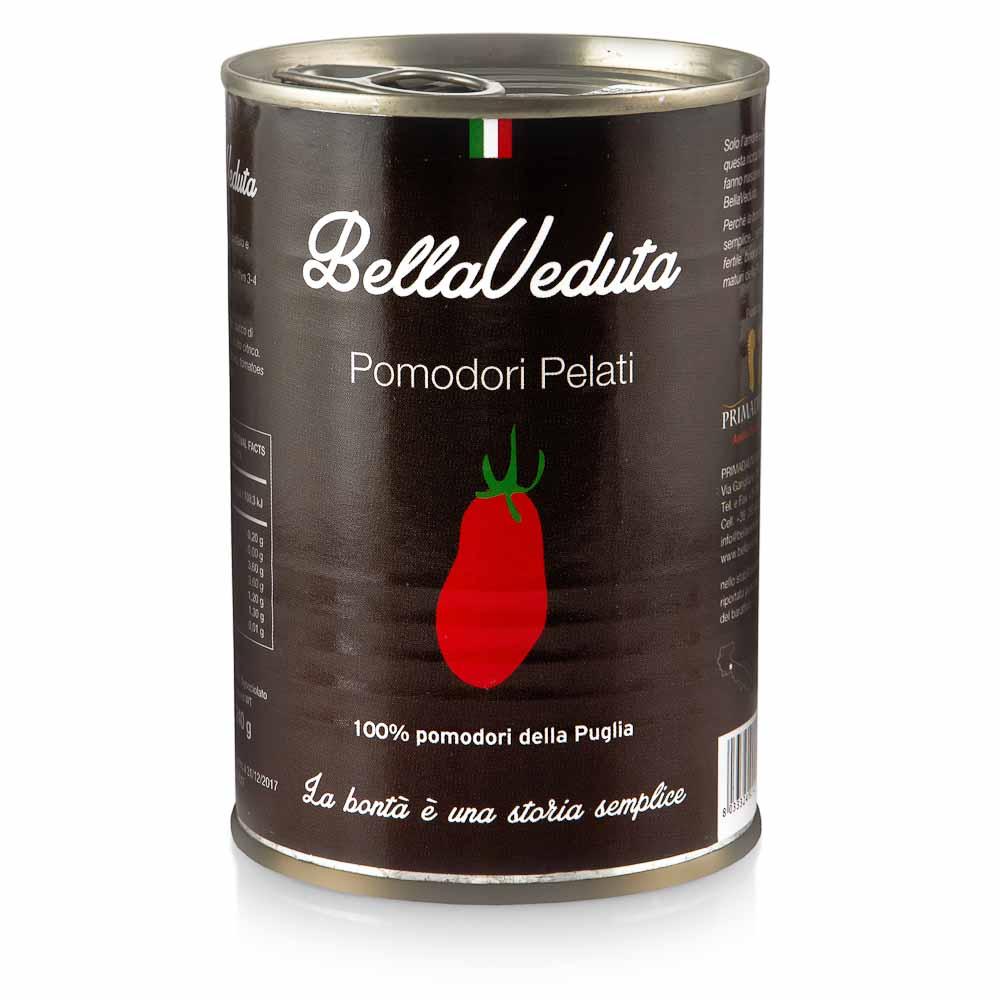 Lupti pomidorai savo sultyse BELLAVEDUTA, skardinėje, 400g