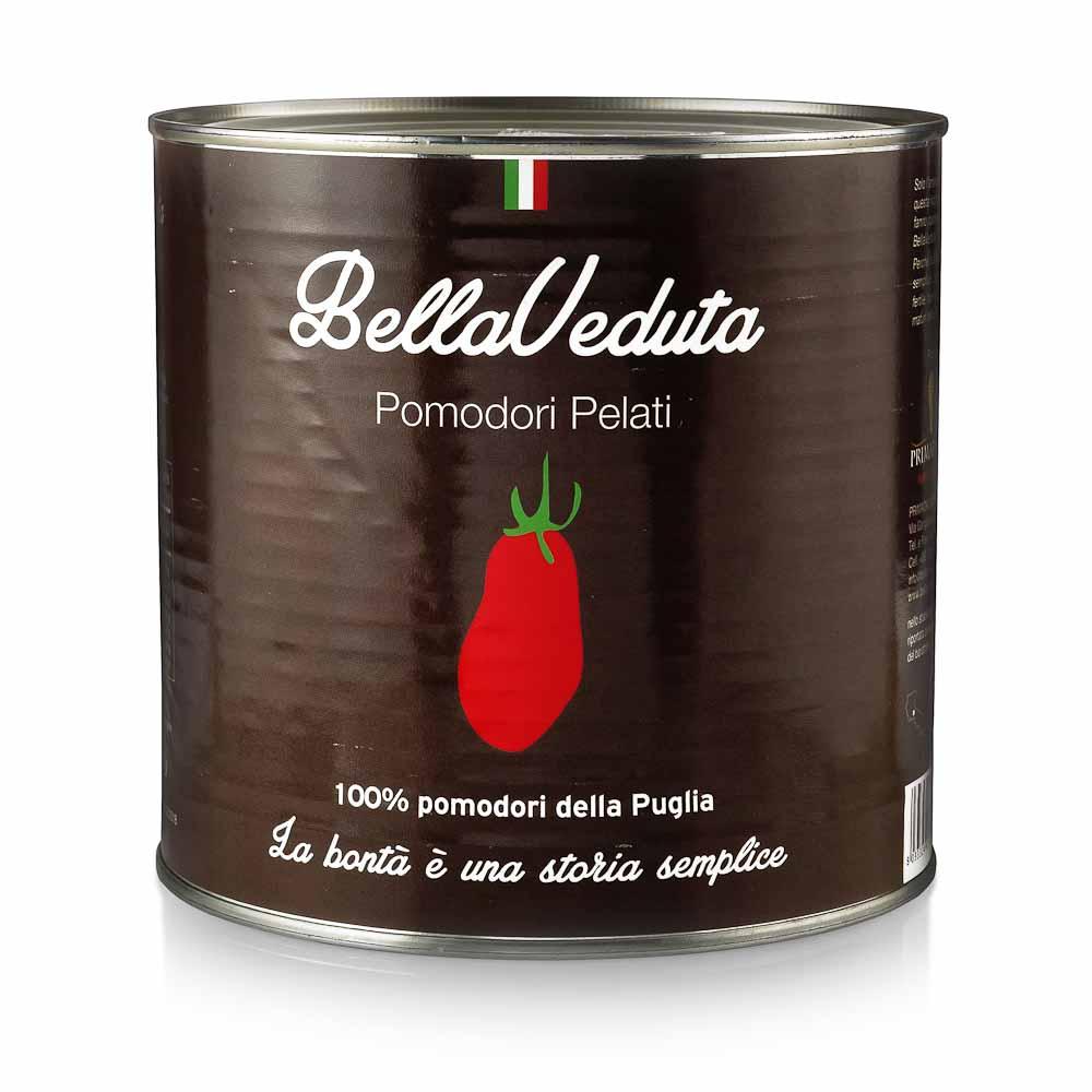 Lupti pomidorai savo sultyse BELLAVEDUTA, skardinėje, 2550g
