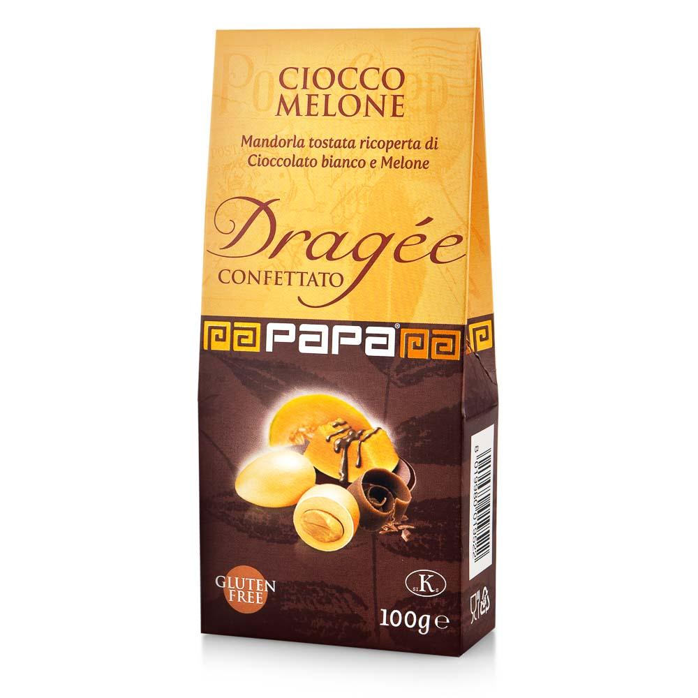 Migdolai baltajame šokolade su melionais PAPA, 100g