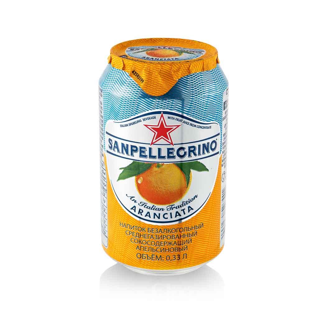 Gaivusis, gazuotas apelsinų sulčių gėrimas Sanpellegrino Aranciata, 330ml