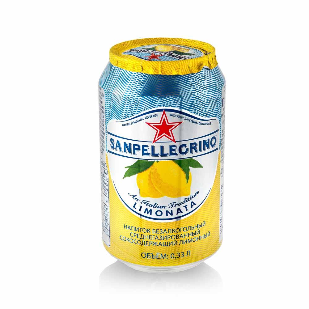 Gaivusis, gazuotas citrinų sulčių gėrimas Sanpellegrino Limonata, 330ml