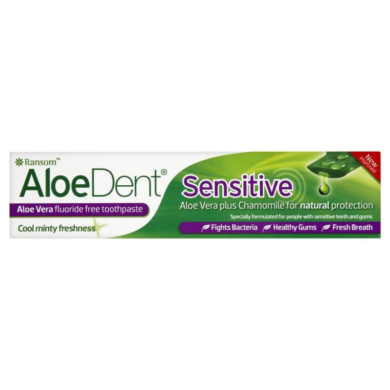 AloeDent Sensitive dantų pasta jautrioms dantenoms ir dantims be fluorido, 100 ml