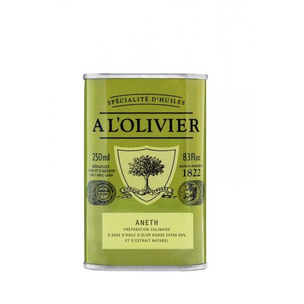 Alyvuogių aliejus su natūraliu krapų ekstraktu A L'OLIVIER, 250ml