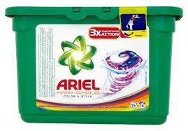 ARIEL Color & Style koncentruotos skalbimo kapsulės, 15 skalbimų, 432g