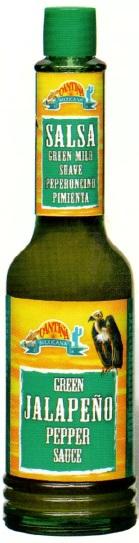 Aštrus CHALAPENO (jalapeno) PIPIRŲ padažas, Cantina, 60 ml