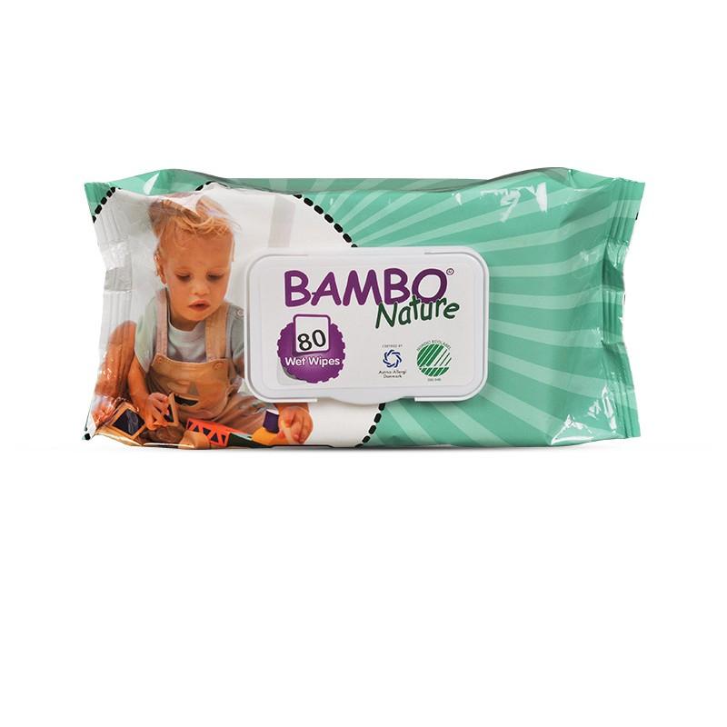 BAMBO NATURE drėgnos servetėlės vaikams su alavijų ekstraktu, 80 vnt.