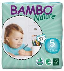 BAMBO Nature junior ekologiškos sauskelnės 12-22kg, 27vnt