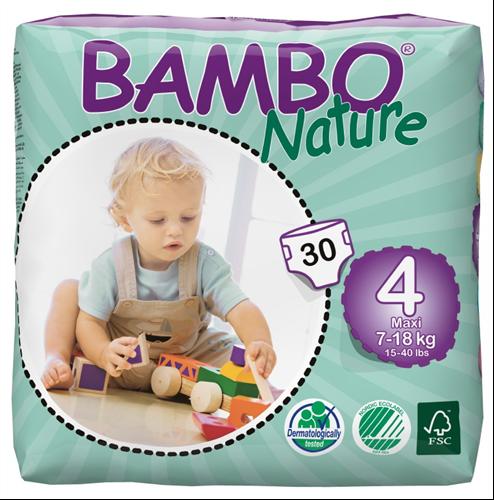 BAMBO Nature maxi ekologiškos sauskelnės 7-18kg, 30vnt