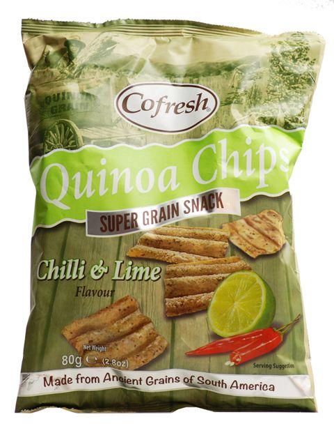 Bolivinės balandos (kynvos) traškučiai SU ČILI PIPIRAIS IR LAIMU, Eat Real, 80 g