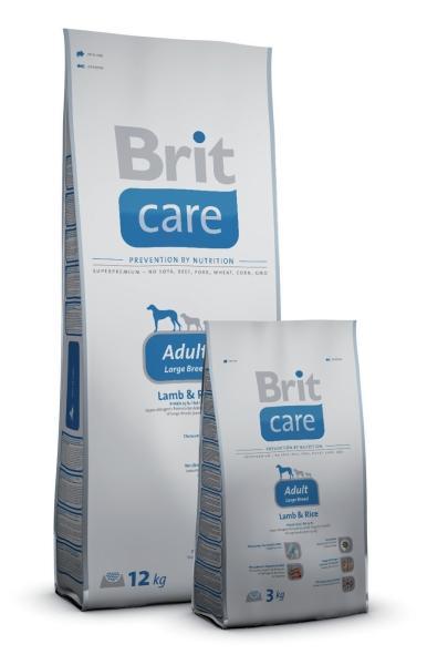 BRIT CARE Adult Large Breed Lamb & Rice hipoalerginis pašaras šunims, 12kg