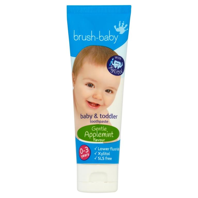 BRUSH-BABY dantų pasta vaikams nuo 0 iki 3 metų, 50 ml
