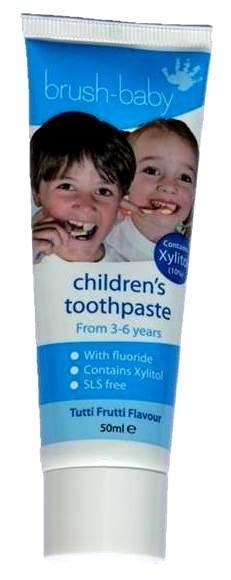 BRUSH-BABY dantų pasta vaikams nuo 3 iki 6 metų, 50 ml
