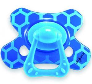 Kombinuotasis čiulptukas DIFRAX su žiedu, dideliu skydeliu ir dideliu, kietu žinduku-kramtuku kūdikiams nuo 18 mėn. (802)