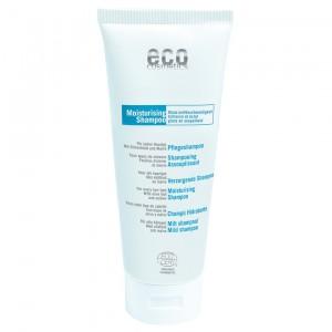 Drėkinamasis šampūnas plaukams ECO COSMETICS su alyvuogių lapais ir dedešva, 200 ml