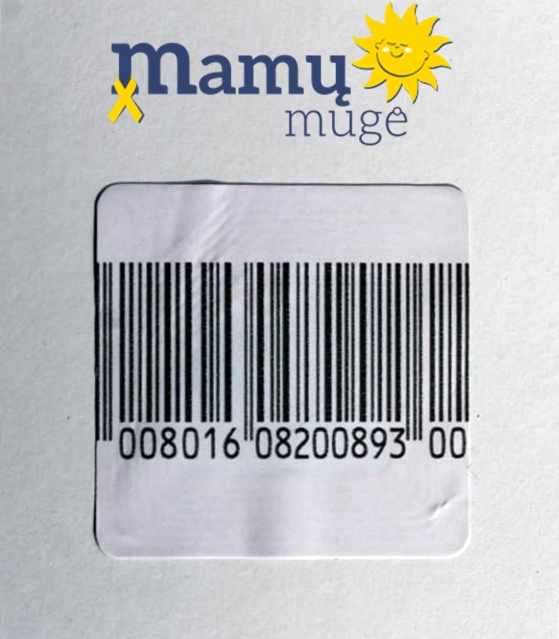 Elektromagnetinis lipdukas naudojamas Mamų mugėje