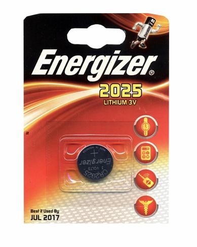 Šarminė baterija Energizer Miniature Lithium 2025/CR2025 PIP-1 , 1 vnt