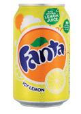 FANTA icy lemon gaivusis gėrimas citrinų skonio, 330ml