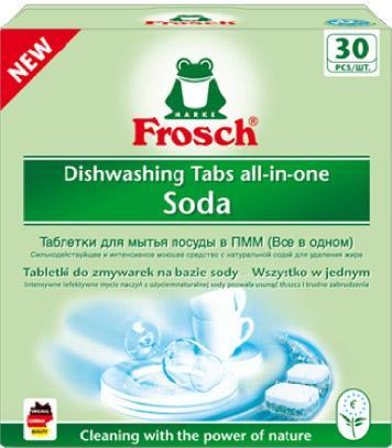 Indaplovių tabletės FROSCH All-in-one Soda, 30vnt.