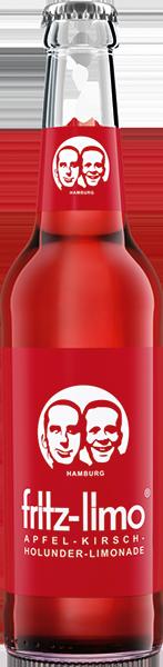 """Gaivusis gazuotas obuolų, vyšnių ir šeivamedžio uogų gėrimas su sultimis FRITZ-LIMO"""", 0,33l"""