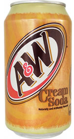 Gazuotas gaivusis gėrimas CREAM SODA  A&W, 355ml