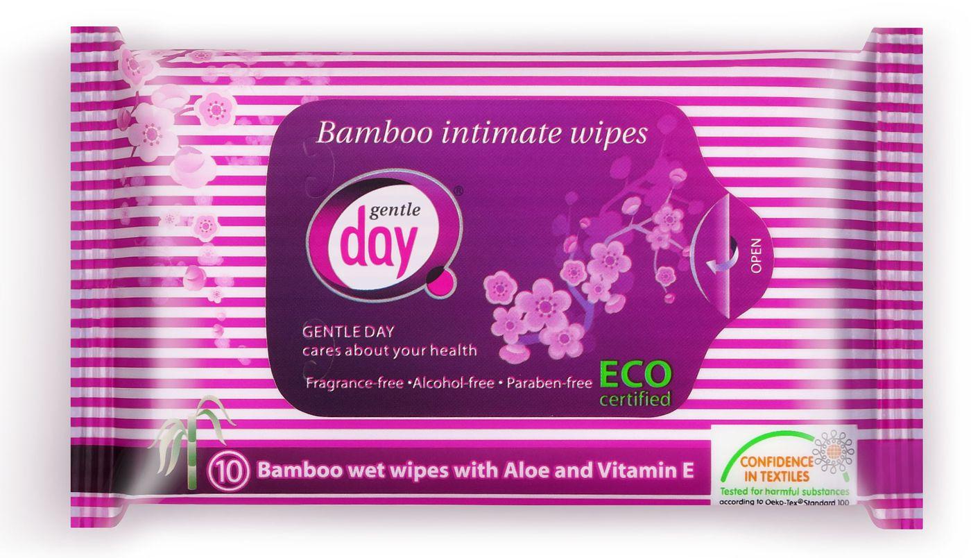 GENTLE DAY drėgnos servetėlės intymiai higienai, 10vnt