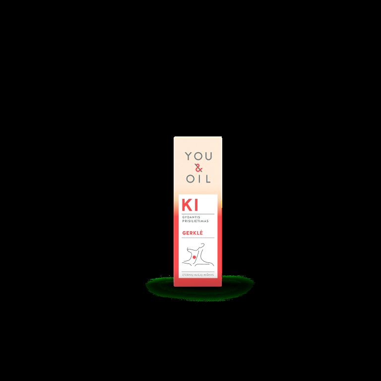 Biologiškai aktyvus eterinių aliejų mišinys Gerklė YOU&OIL KI, 5 ml