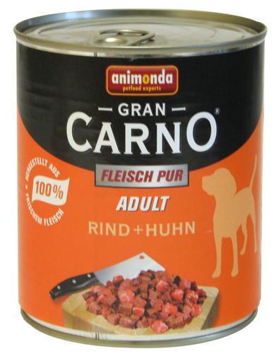GRAN CARNO ADULT visavertis konservuotas suaugusių šunų ėdalas su jautiena ir eriena, 800g