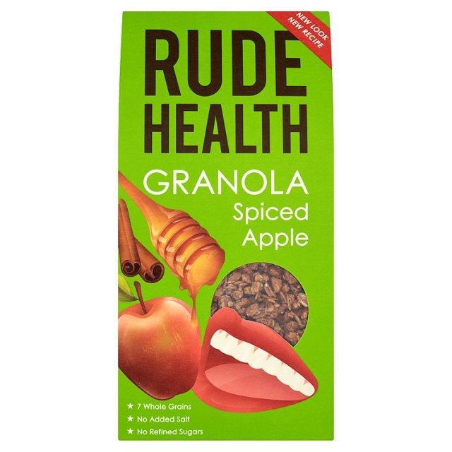 Granola SU OBUOLIAIS IR CINAMONU Rude Health, 500g