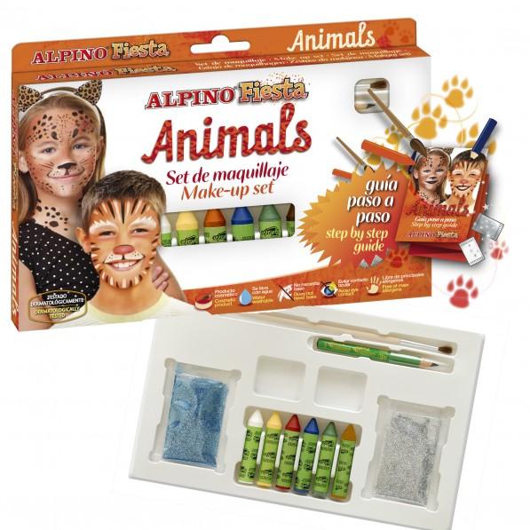Grimo kreidelių rinkinys ALPINO Animals vaikams nuo 3 metų, 6 spalvos, 5 g (DL000111)