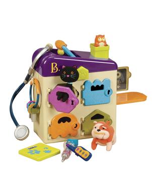 Gyvūnėlių klinika su nameliu B-TOYS 2-6 metų vaikams, 8 detalės (BX1229ZBT)