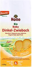 HOLLE ekologiški kūdikių džiūvėsiai, nuo 6mėn., 200g