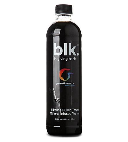 Juodas vanduo praturtintas fulvorūgščių mineralais BLK, 500ml