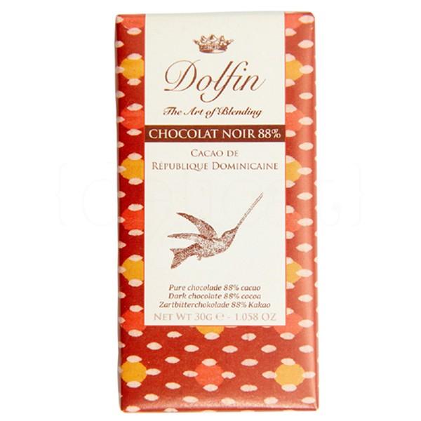 Juodasis Dominikos kakavos šokoladas DOLFIN, 88%, 30g