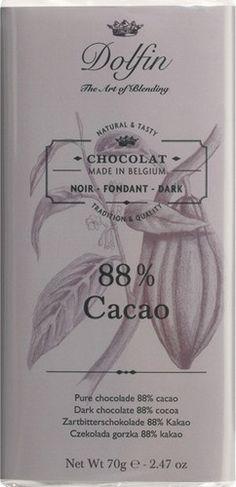 Juodasis šokoladas DOLFIN, 88%, 70g