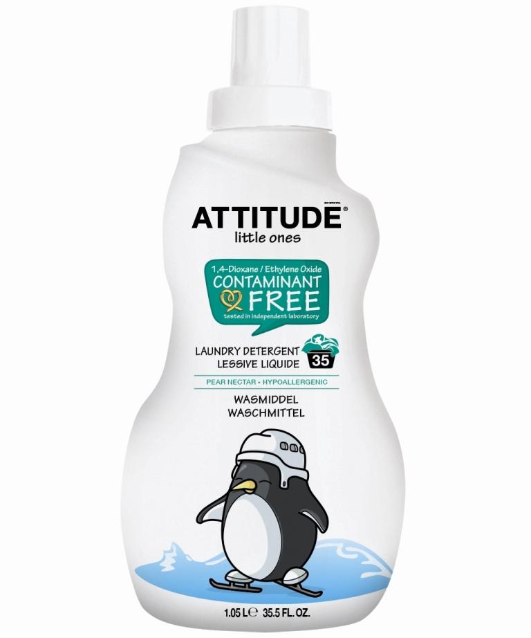 Ekologiškas hipoalerginis skalbiklis ATTITUDE, kriaušių aromato, 1,05 L