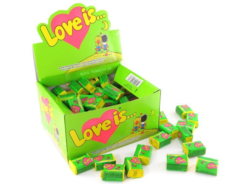 Kramtoma guma, Love Is, 4,5g (žalia)
