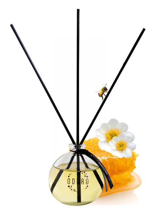 Kvapų  difuzoriaus rinkinys namams Gėlės ir medus kvapo ODORO, 90 ml