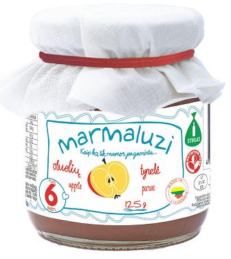 Obuolių tyrelė MARMALUZI vaikams nuo 6 mėn., 125 g